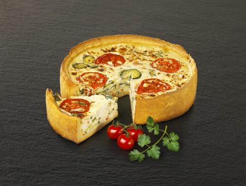 Tarte Courgette Tomate Chèvre