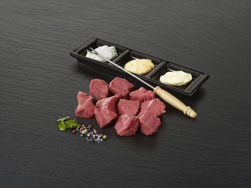 """Viande à fondue de bœuf """"Tende de tranche"""""""